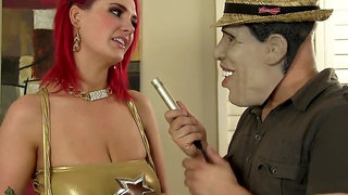 Cosplay hardcore with very busty redhead bitch - monster tits