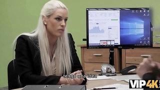 vip4k. natalia la belleza bronceada blanche pasa un casting porno