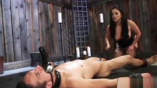 Sexy Mistress Punishes Her Slave Really Hard