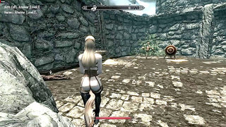 BDSM time in 3D for a blonde babe in medieval clothes