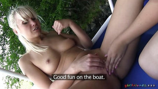 POV Outdoor Lesbian Threesome: Part 3