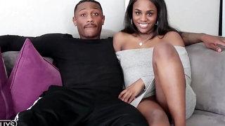 Black Guy with Huge Dick Fucks Ebony Slut