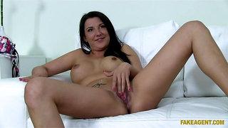 Brunette Beauty Bends Over For Big Dick