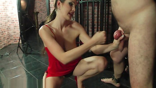 BallBustingChicks Pay for watching my tits Angela Diabolo