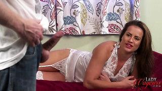 Panty Pervert Stokes Dick for Sarah Snow
