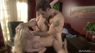 Katie Morgan cheats on her hubby with her boss at work