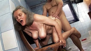 busty 83 year old mom gets rough fucking