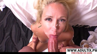 I spurt my jizz over her face!