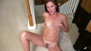 Great looking milf, Vivian Smith is ready for a night out and for gentle masturbation session