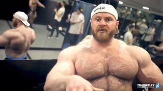 Hairy Bodybuilder Posing