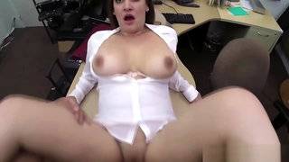 Blonde Desperate woman sold her pussy in the pawnshop