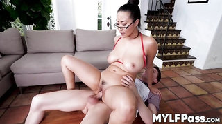 MYLF PASS - Exotic MILF Sharon Lee pounded hard before oily tits fuck