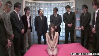 One of lots of buddies finally fucks tight pussy of lovely Rina Serizawa