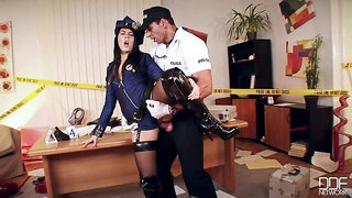 Hardcore Crime Scene: Sex Addict Gets her Asshole Fucked!