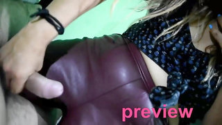 Almost 20min of BOOTJOB Cum in leather riding boots handjob