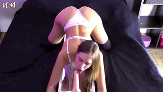 Sucking dildo in doggy and shaking my big ass