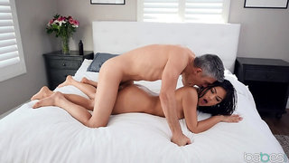 Asian chick feels endless white inches causing her the orgasms