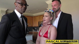 Bdsm ho has interracial anal sex