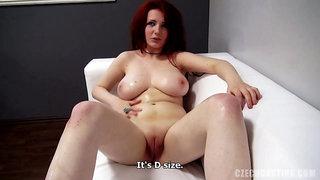 Redhead Hippy Natalie at POV Casting - Big euro tits