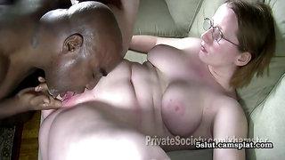 Heidi Goes Black - Nerd Plumper Interracial Sex