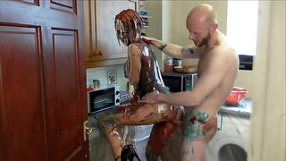 Cake sitting, pies and messy sucking and fucking