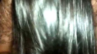 Shiny silky hairjob no-2