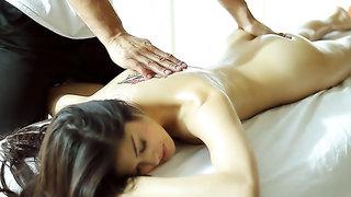 Hot Euro girl massaged and fucked erotically