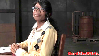 Black bdsm sub tiedup and fingerblasted by male domination