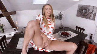 Timea Bella tastes her own delicious love juices after orgasm