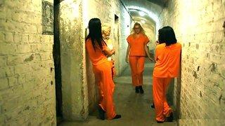 Lesbian prison sex scene with hot busty cellmates Lou Lou & Roxi Keogh