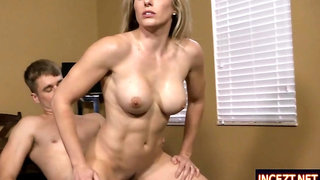 Hot fit stepmom Cory Chase rides dick