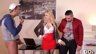 Lubing Up Her Vocal Cords: Busty Teacher Double Penetrated