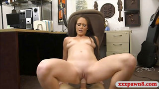 Beautiful babe gets fucked by pawn dude at the pawnshop