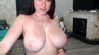 big naturals on webcam feat. lovely young redhead PAWG