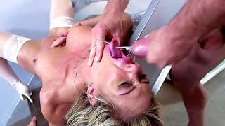 Heavy cock sucking xxx porn play with Nina Dolci