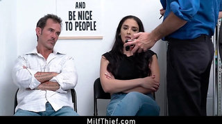 Fucked By Security While Husband Watches