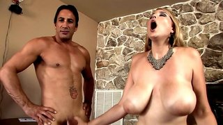 Massive curves of Athena Pleasures fucked by two guys