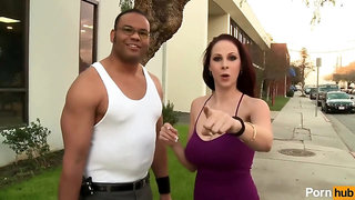 cool interracial vintage hardcore with blowjob and cumshot - retro big tits
