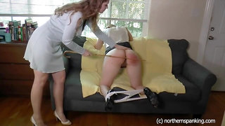 Apricot and Harley spank each other hard