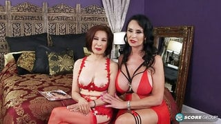 Rita Daniels and Kim Anh in the filthiest 60something 3-way ever