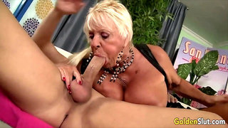Golden Slut - Older Lady Blowjob Compilation Part 21
