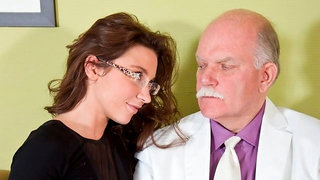 Beautiful big-tit doll Julie Skyhigh nailed by a horny old man