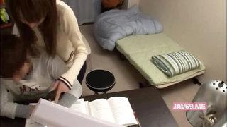 Asian teacher seduces her student on hidden cam