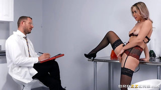 Alina's medical check up ends up with the doctror's cock in her mouth