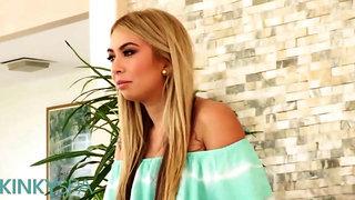Kinky Spa - Big tit blonde Kat Dior gives bbc a sensual massage