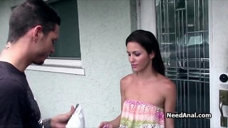 Anal fun with kinky neighbor after wrong package delivery