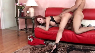 Bookseller won't leave mature's house until makes her pussy cum