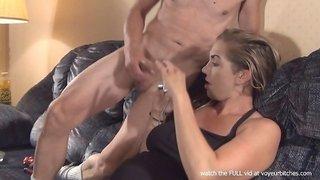 wife uses anal beads on nude guy