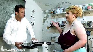 Cock Strumming BBW Fatty - Angellyne Hart