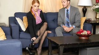 Penny Pax gives her intern a fuck of his life